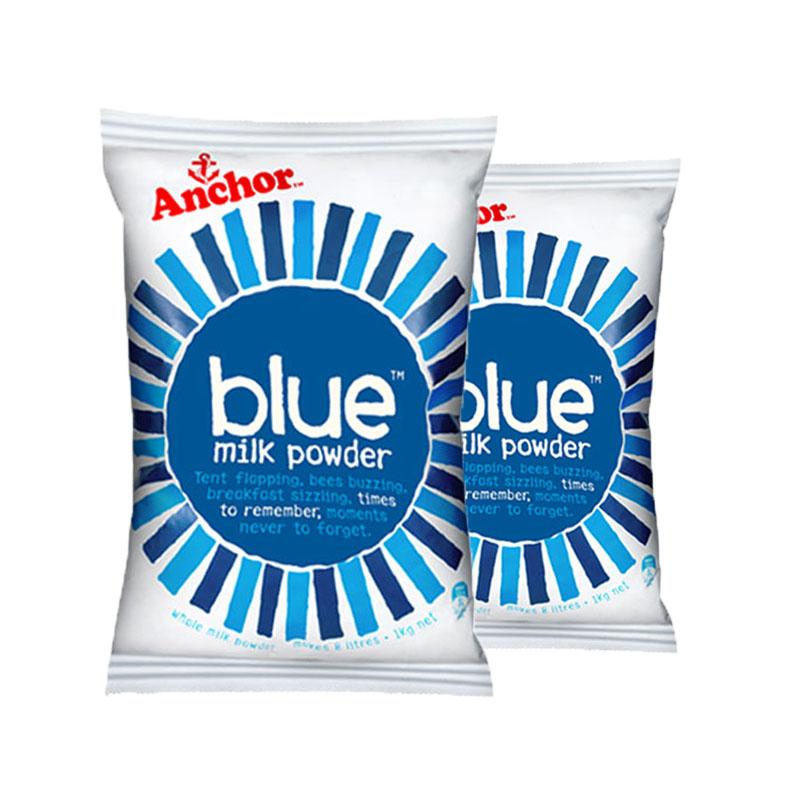 【全球购】新西兰安佳Anchor成人全脂奶粉1kg*2袋装保税区直发