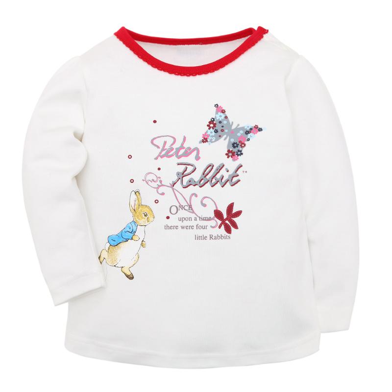 歌瑞家PeterRabbitA类白色女婴长袖T恤