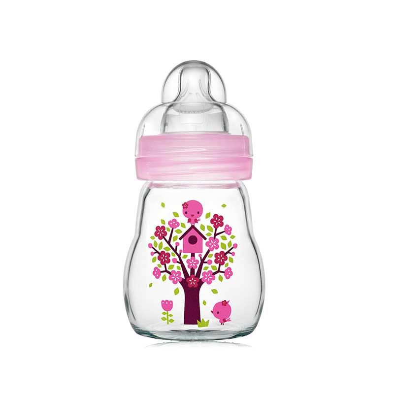 MAM晶彩耐温玻璃奶瓶170ml