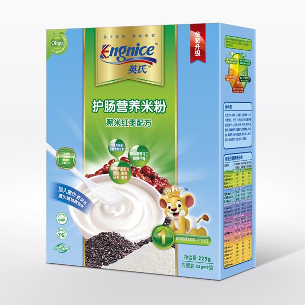 英氏Engnice护肠营养米粉225g黑米红枣1段6个月以上