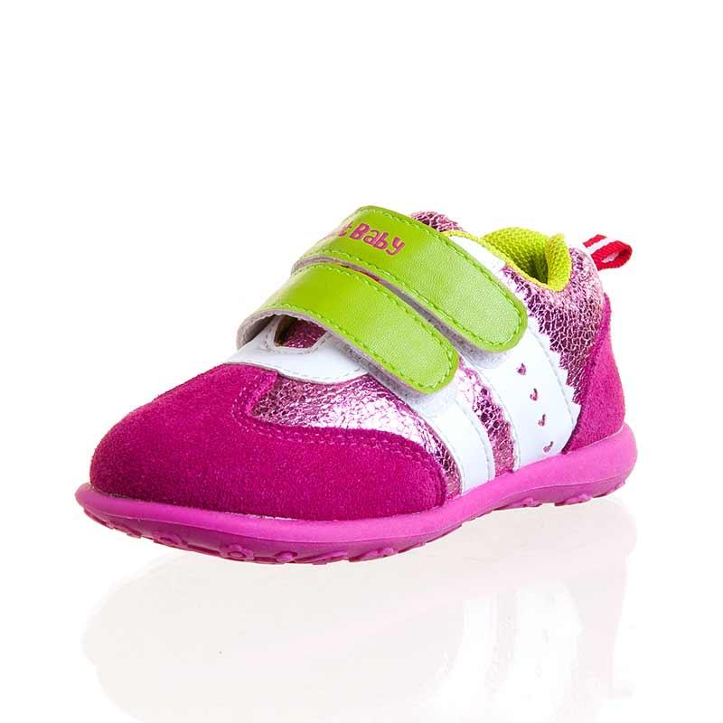 歌瑞贝儿(新)--时尚休闲鞋(女婴儿鞋)GB143-016SH桃红14CM
