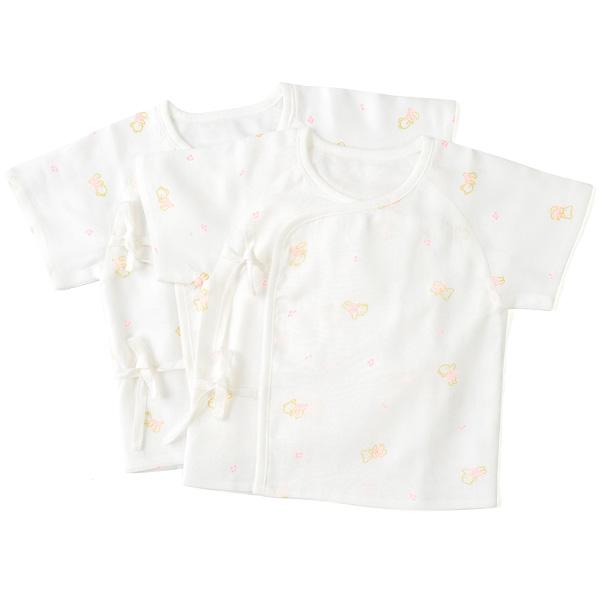 歌瑞贝儿--竹纤维纱布短袖和短袍两件装0:1月/女孩(白-52)