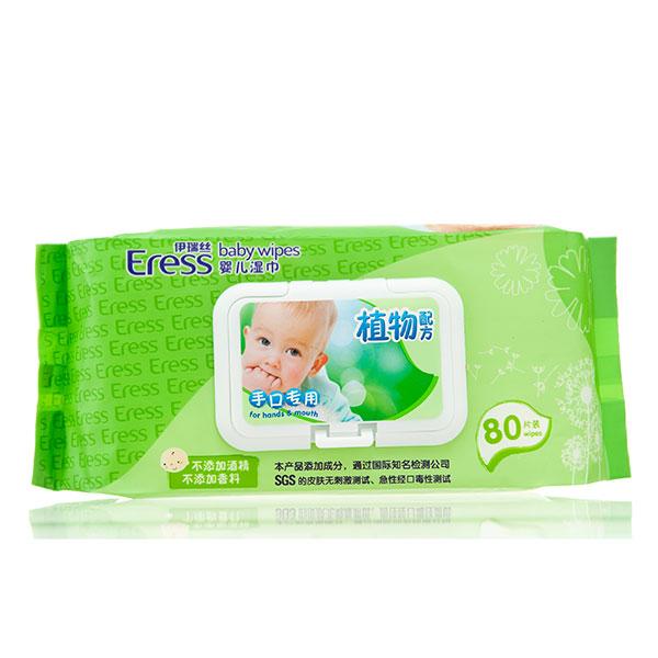 伊瑞丝植物配方婴儿手口湿巾盖装80片