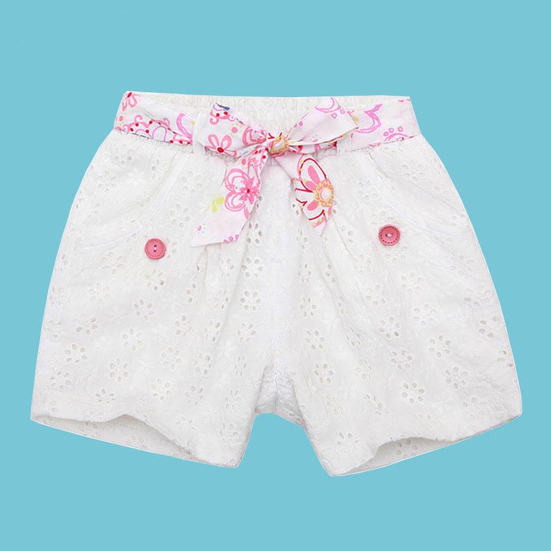 歌瑞家A类女童白色梭织短裤