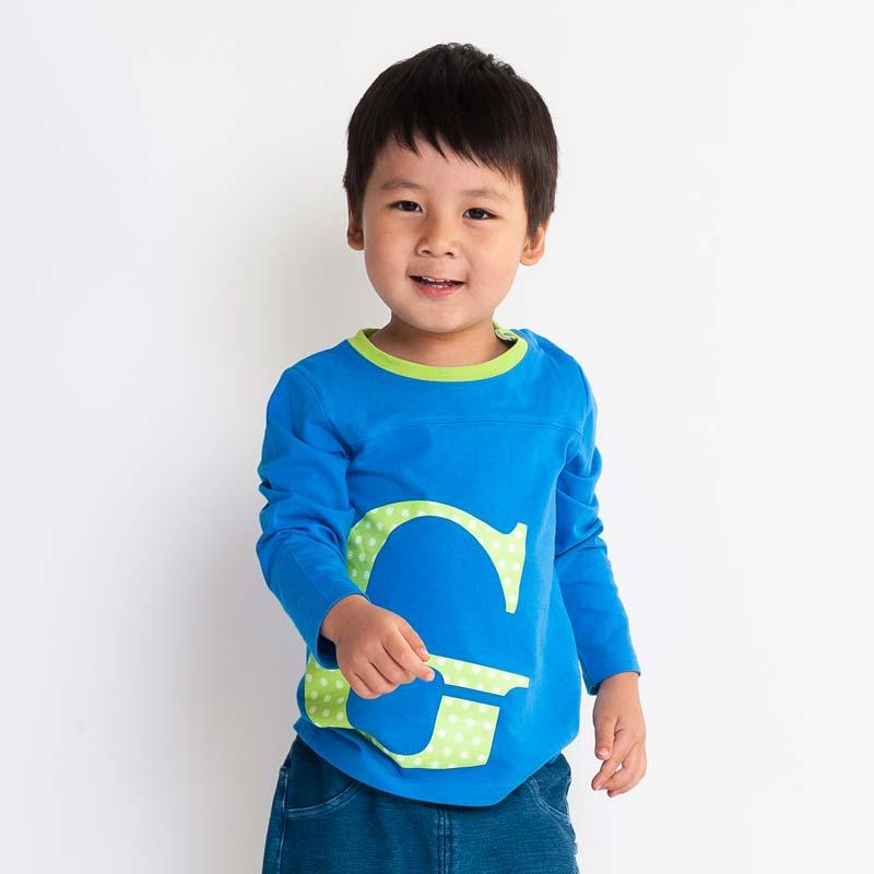 歌瑞凯儿-Great-Color-男童百搭圆领字母T恤90码