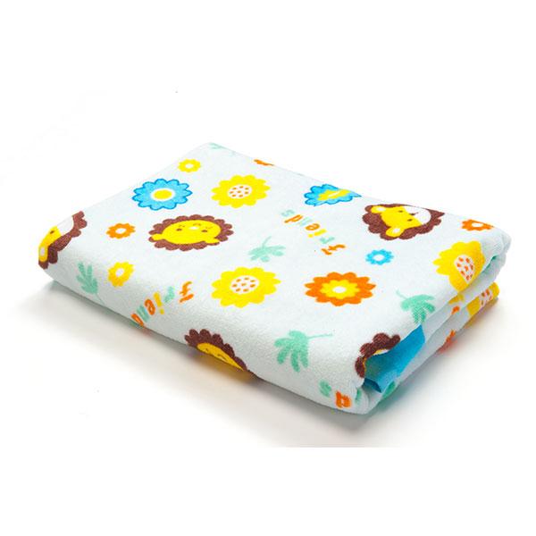 歌瑞贝儿(新)--小狮子割绒印花长方形浴巾GB130-243蓝混码
