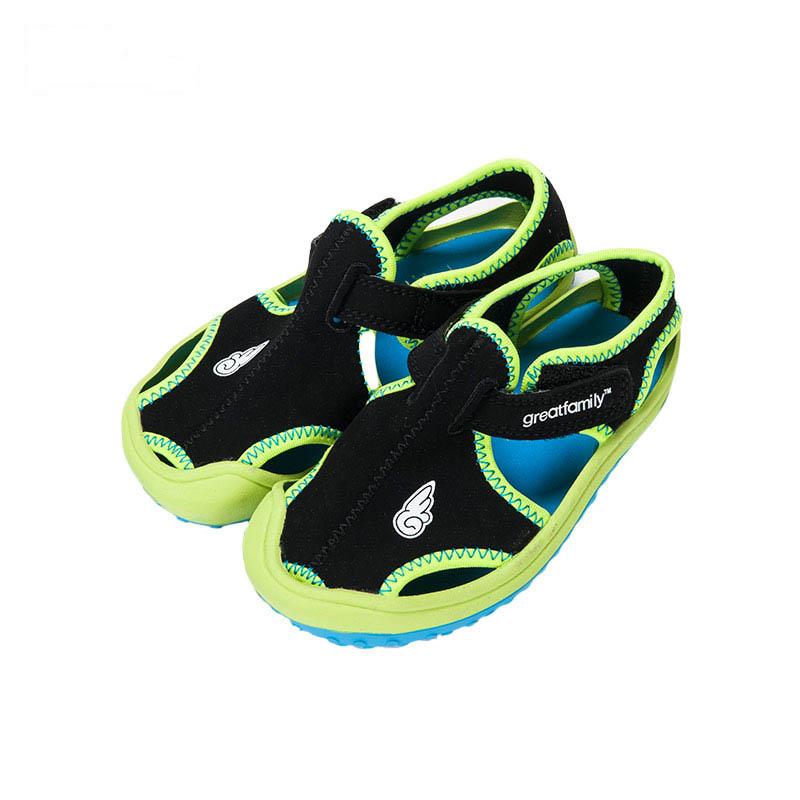 歌瑞凯儿男婴时尚凉鞋GK162-009SH黑13.5cm双
