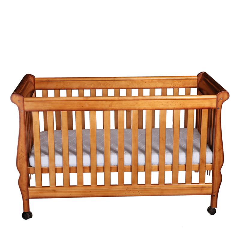 贝乐堡维多利亚的秘密胡桃色婴儿床