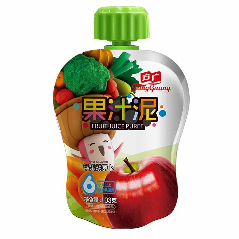 方广苹果胡萝卜果汁泥袋装6月以上103g