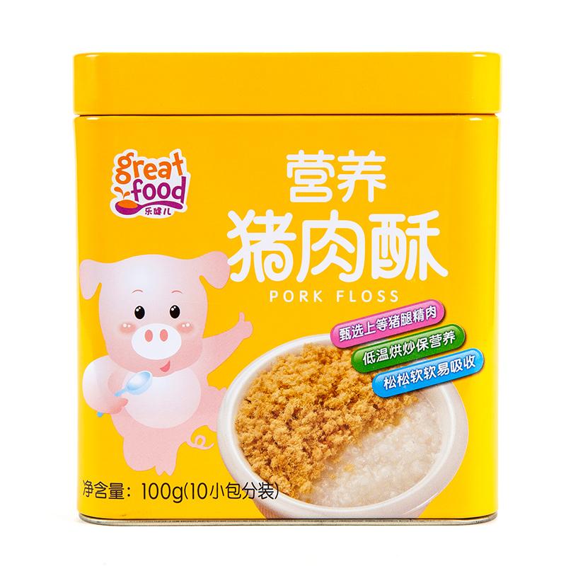 乐健儿GreatFood营养猪肉酥(原味)100g