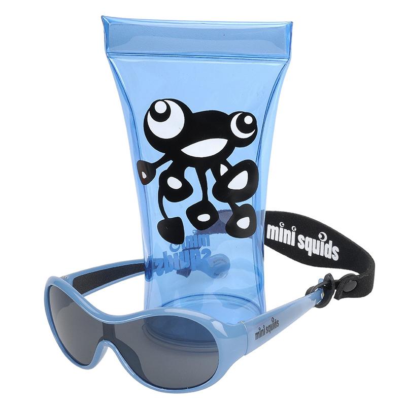 澳洲太阳镜(0-2岁)浅蓝色 抗紫外线保护视力mini squids sunglasses,light blue
