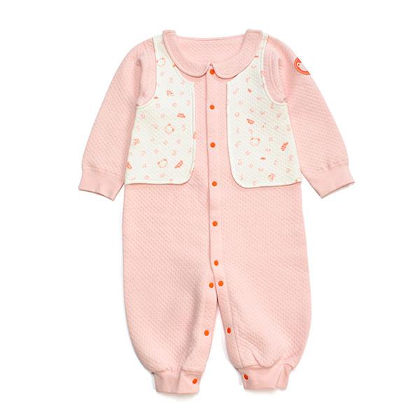 歌瑞贝儿(新)--薄三保暖粉色城堡背心连身衣GB134-922HS粉66cm