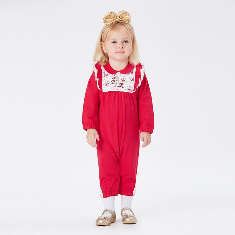 歌瑞家greatfamilyPeterRabbitA类红色女婴连身衣