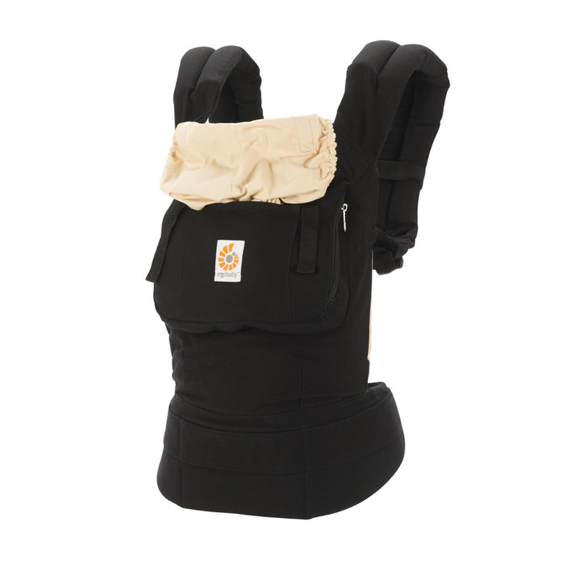 美国Ergobaby基本款婴儿背带(黑/驼色)明星同款 Ergobaby Original 3Position Baby Carrier Galaxy Black/Camel