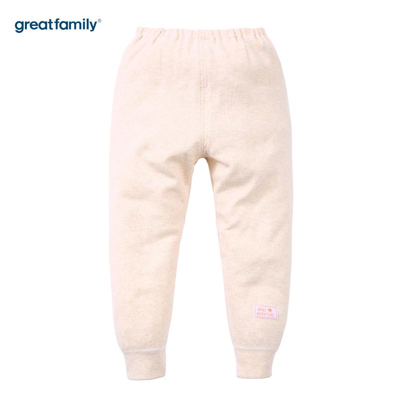 歌瑞家(Greatfamily)A类舒绒卡其色开闭裆长裤男女宝宝通用款