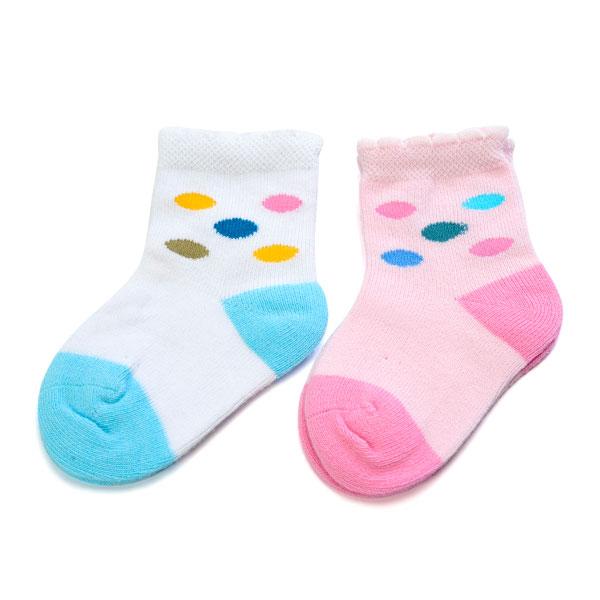 旭威(新)--小小宝宝袜(二)(2双装)B10混色0-6个月月包