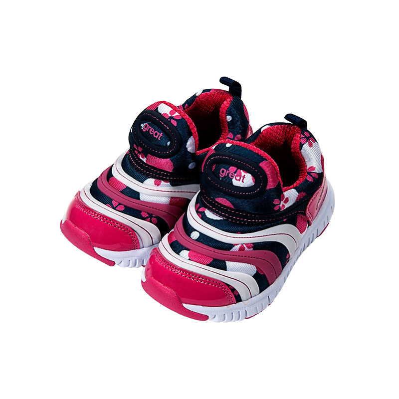 歌瑞家(greatfamily)女婴毛毛虫运动鞋红