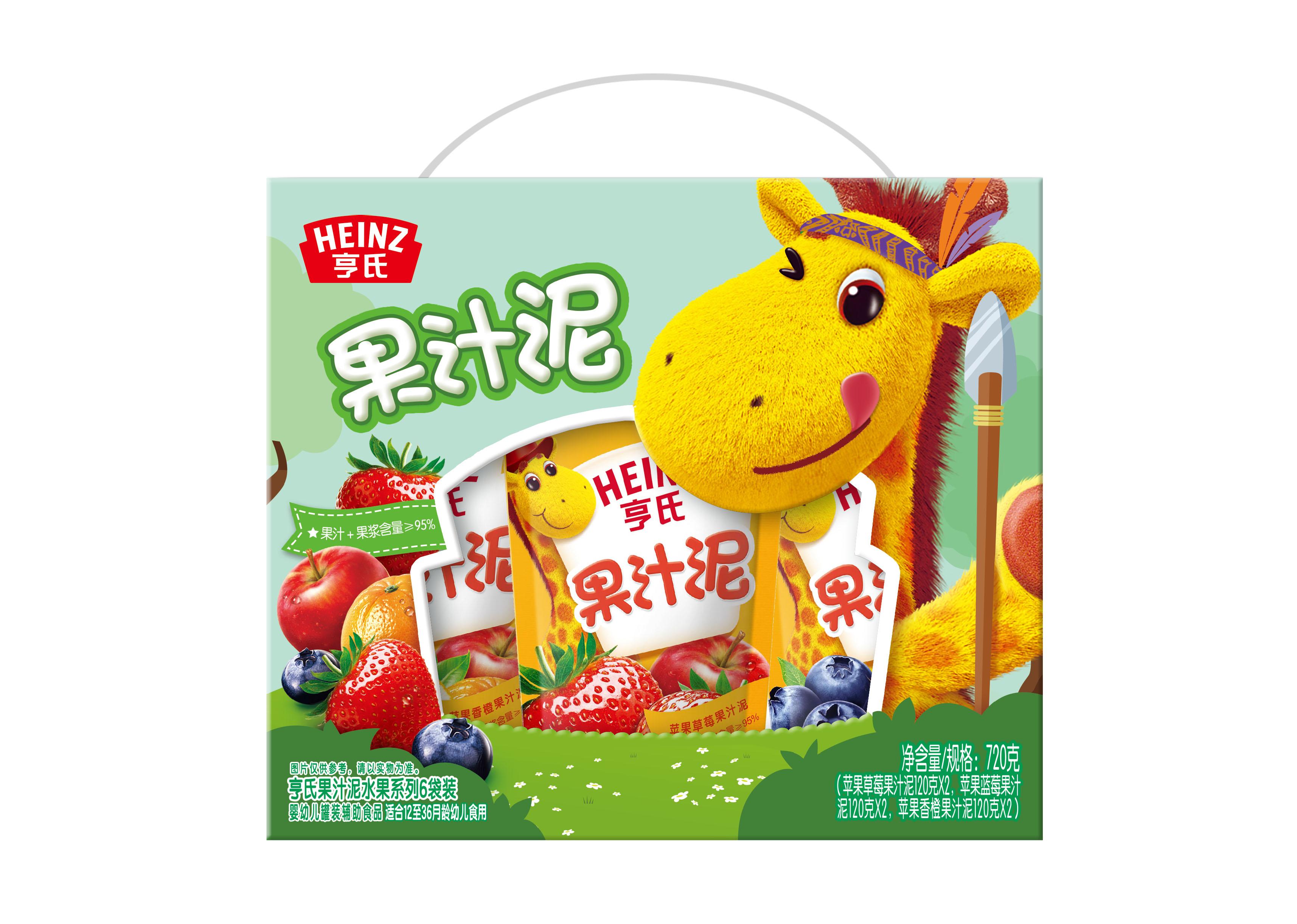 亨氏--乐维滋果汁泥水果系列6袋装720g