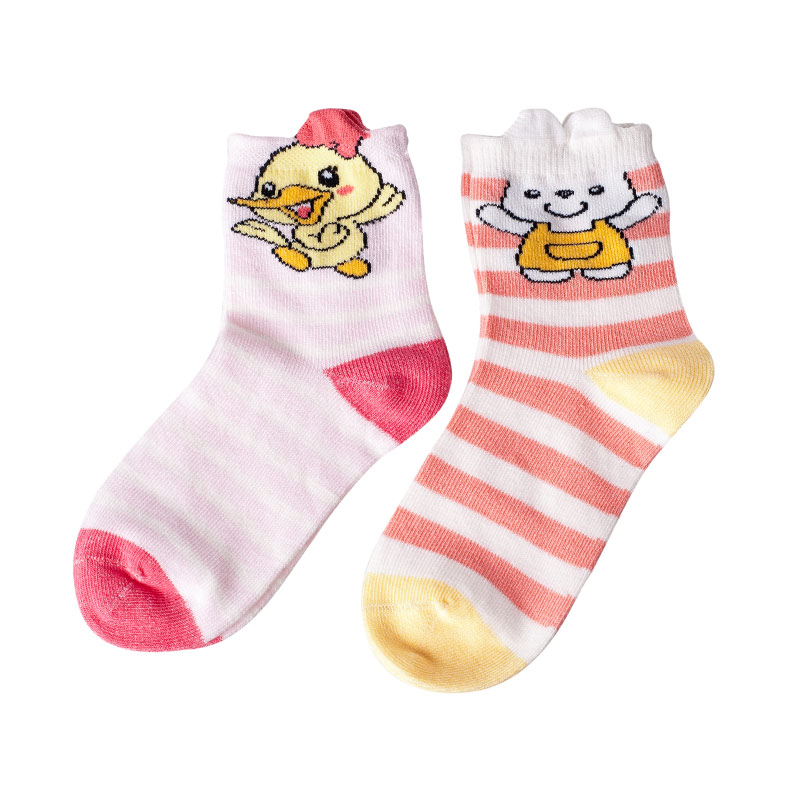 歌瑞贝儿(新)--可爱动物袜/3双装GB141-024L混色0-6个月月包