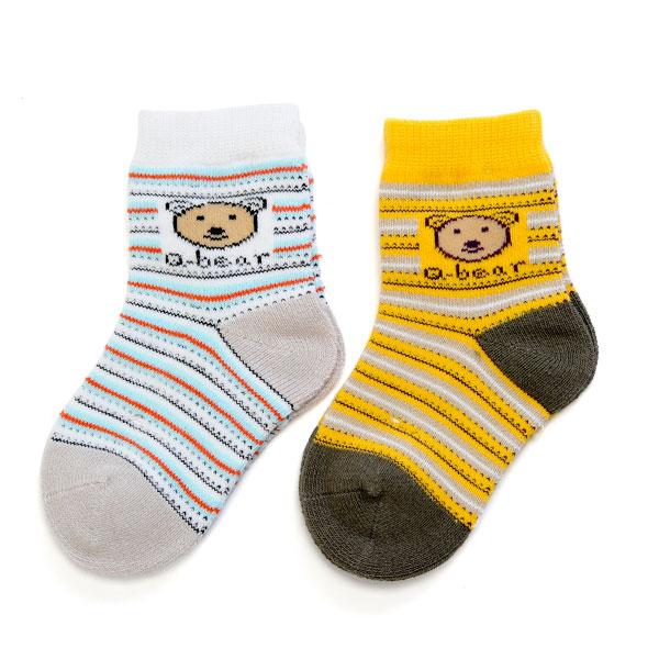 旭威(新)--熊熊宝宝袜(2双装)0521混色0-12个月月包