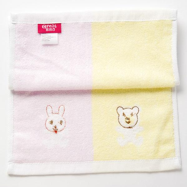 歌瑞贝儿--木纤维面巾/小兔50x25cm(红-混码)