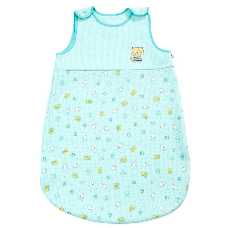 歌瑞贝儿(新)--可爱圈圈夹丝无袖睡袋GB140-993QW蓝混码