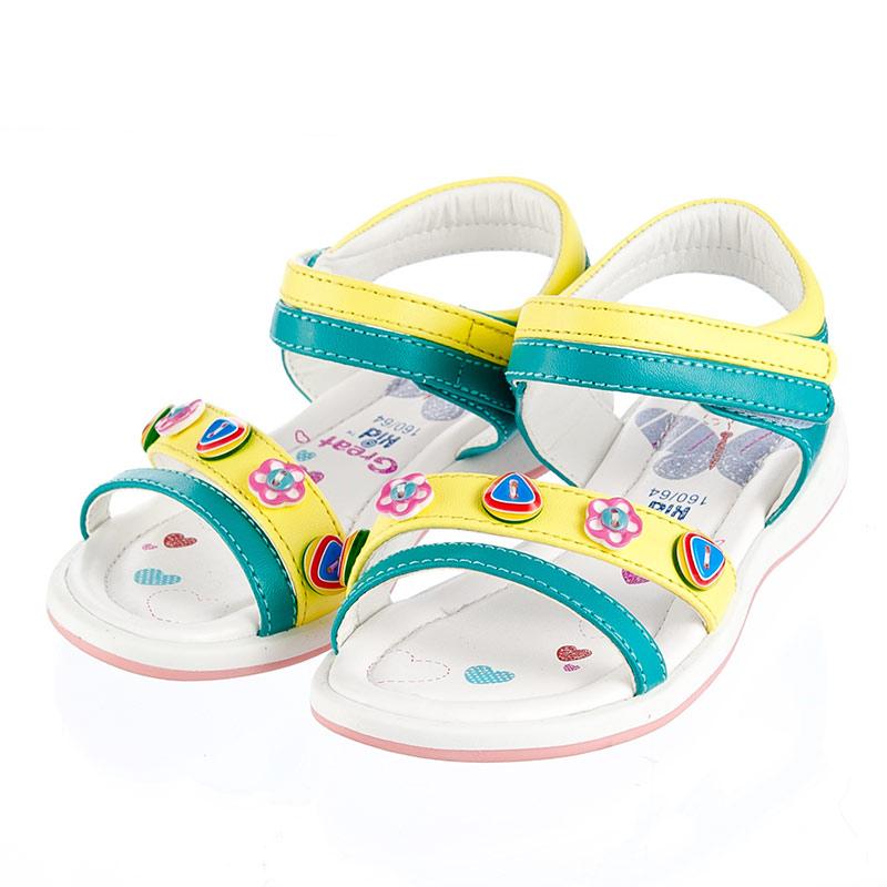 歌瑞凯儿可爱公主凉鞋绿19码gk142-008sh