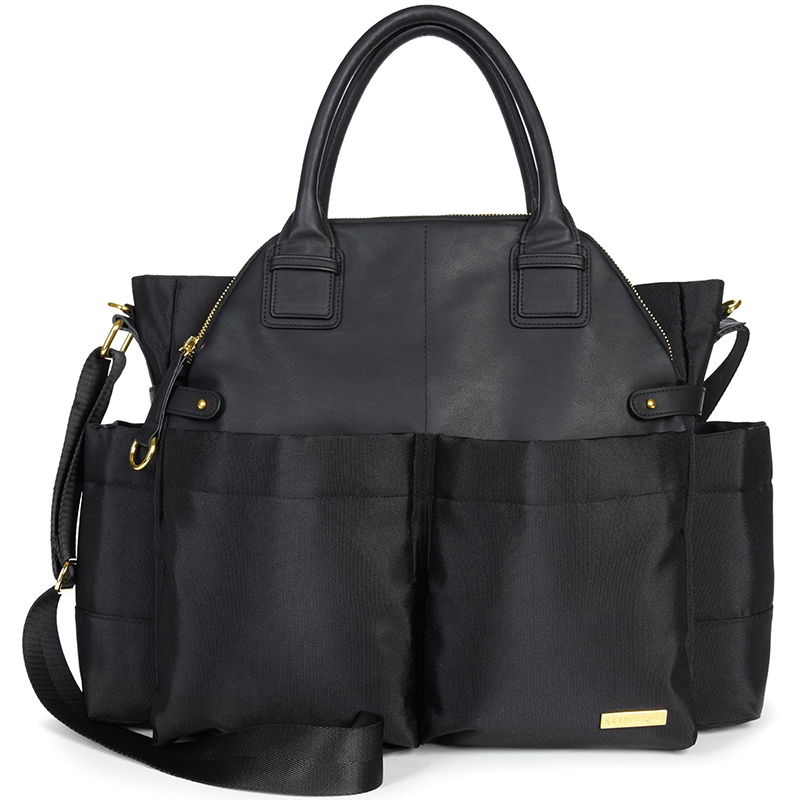 美国 SKIP HOP Chelse都会时尚妈妈包(黑色)Skip Hop Chelse Downtown Chic Diaper,Satchel Black