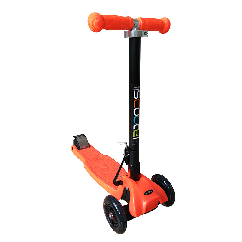一米高科大童折叠滑板车橙色