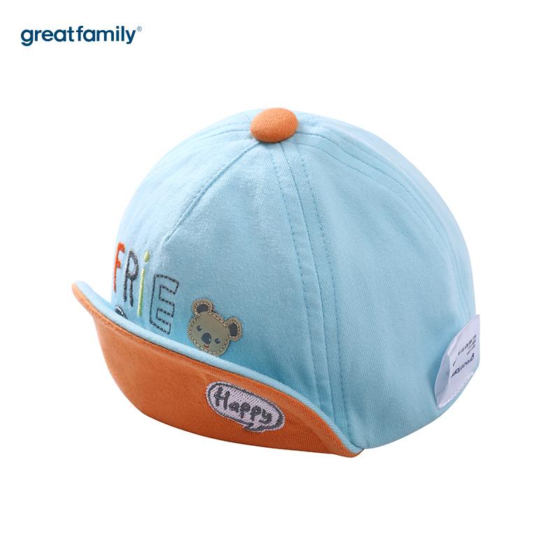 歌瑞家A类男童蓝色软檐帽