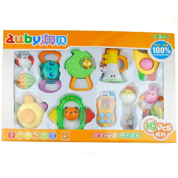 澳贝(Auby)10只摇铃手机喇叭摇铃套装婴幼儿礼盒装