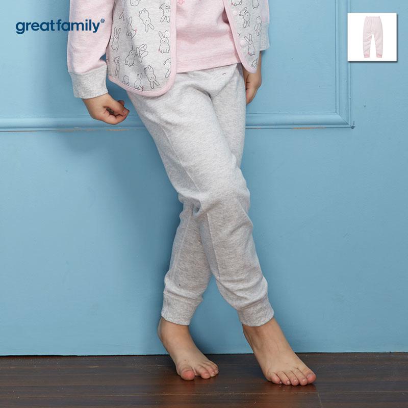 歌瑞家(Greatfamily)A类女童灰色花纱长裤/家居裤