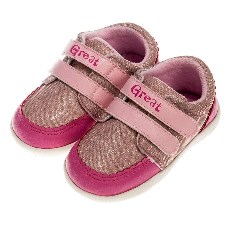歌瑞贝儿女婴炫色宝宝鞋GB153-014SH粉13.5cm双