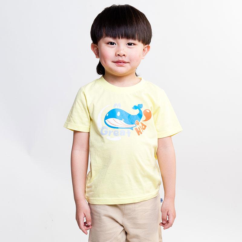 歌瑞凯儿A类男童炫色图案短袖T恤