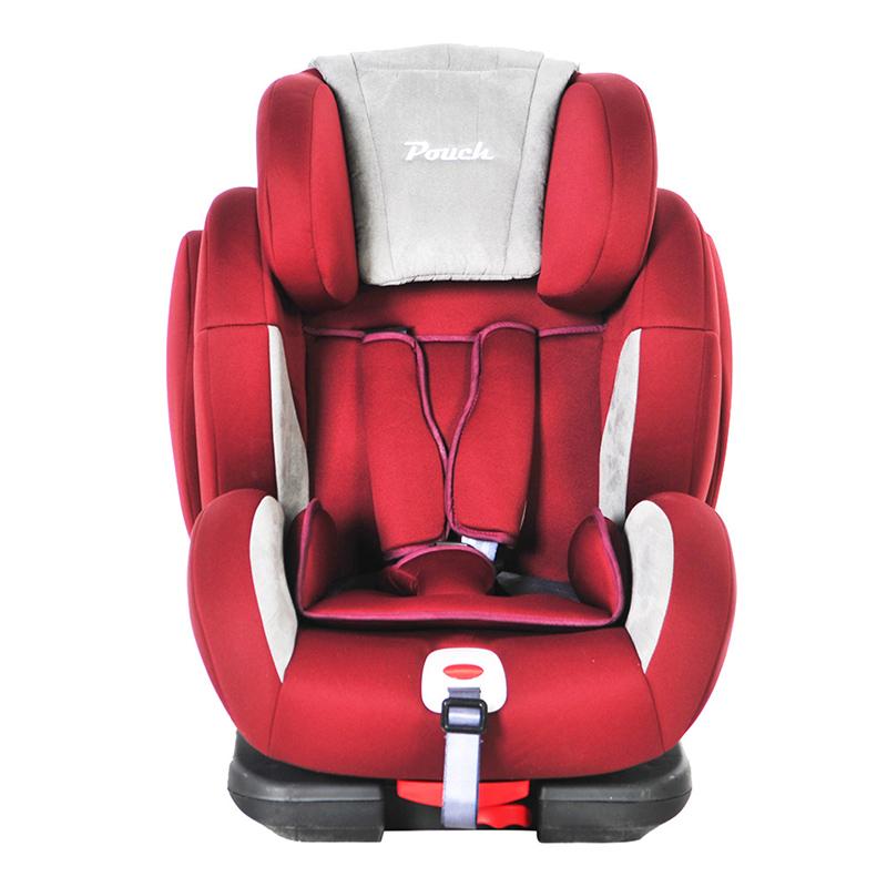 Pouch适用9个月-12岁车载安全座椅isofix接口KS02酒红色