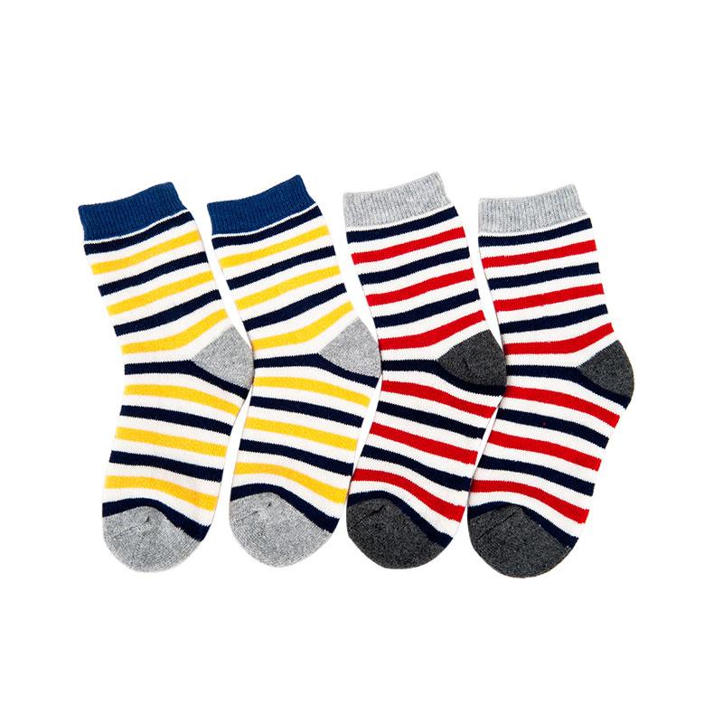 歌瑞贝儿条纹系列男童中袜(2双装)