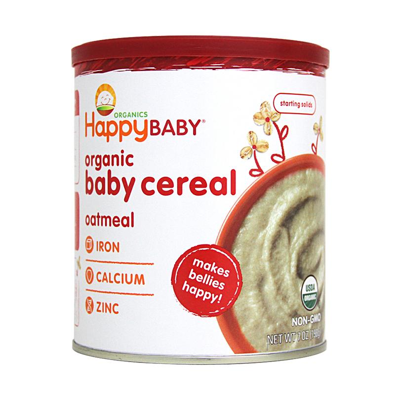 美国原装进口禧贝有机燕麦米粉198g罐