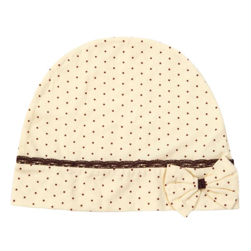 歌瑞家greatfamily经典圆点月子帽黄色
