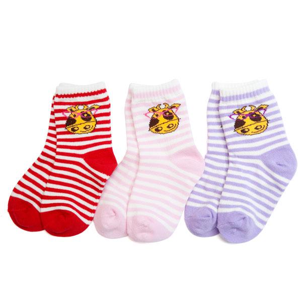 歌瑞贝儿(新)--牛博士横条袜/3双装GB130-207混色12-24个月月包