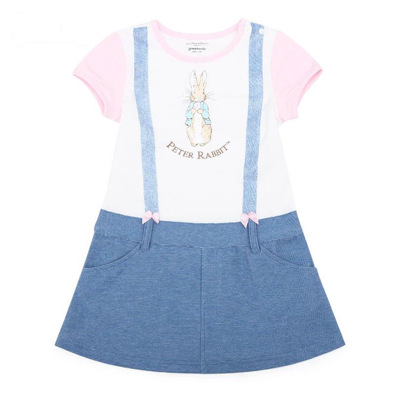 歌瑞家比得兔系列A类女童混色针织连衣裙