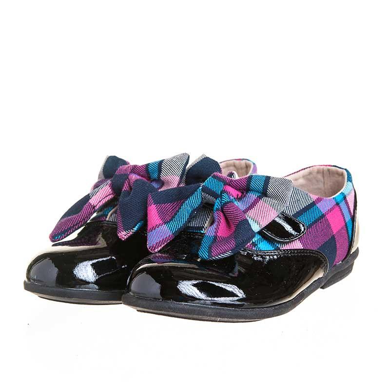 歌瑞凯儿(新)--靓丽格子鞋(女童鞋)GK143-003SH黑19CM