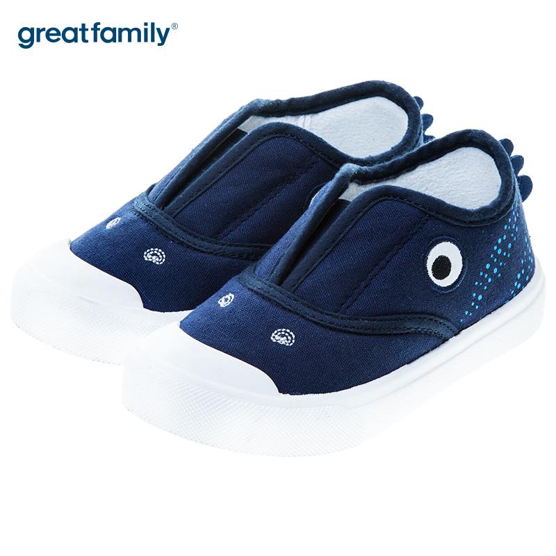 歌瑞贝儿(新)男婴立体动物运动鞋GB183-011SH蓝15CM双