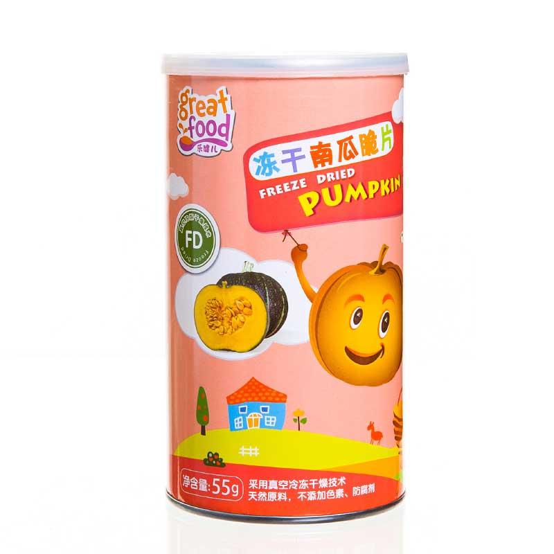 乐健儿GreatFood营养果蔬辅食系列冻干南瓜脆片55g