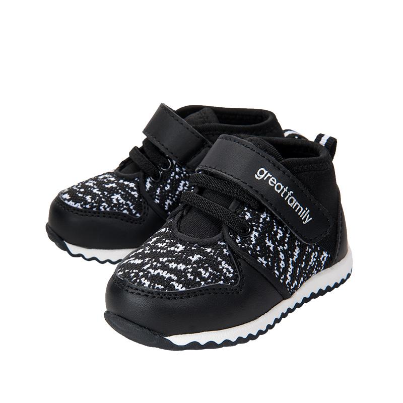 歌瑞家(greatfamily)男婴时尚运动鞋黑