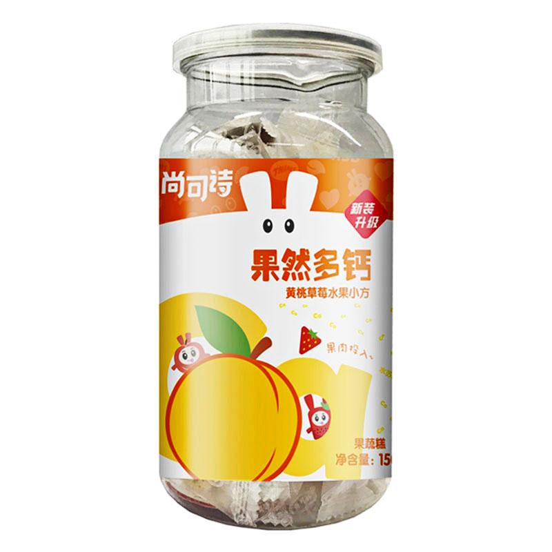 尚可诗果然多钙水果软糖(黄桃草莓)150g/听
