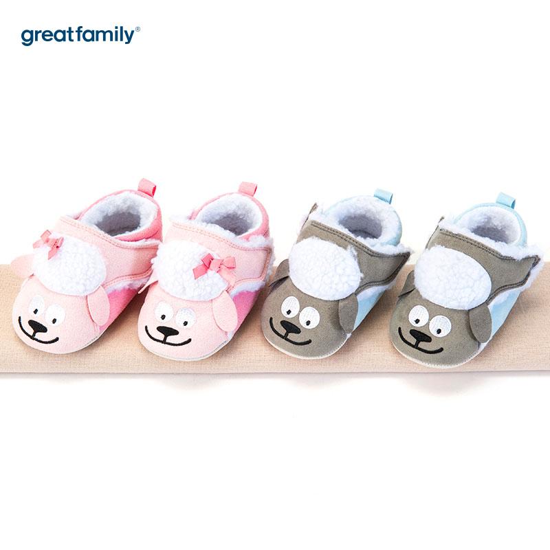 歌瑞家(greatfamily)女婴小羊宝宝鞋粉色