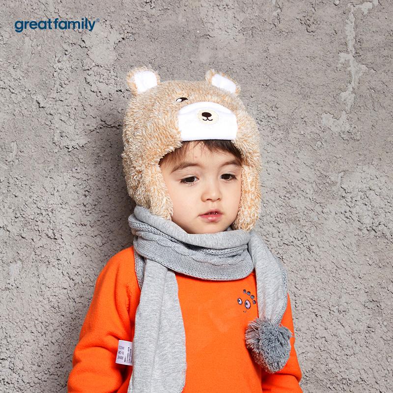 歌瑞家(Greatfamily)A类男童混色护耳帽