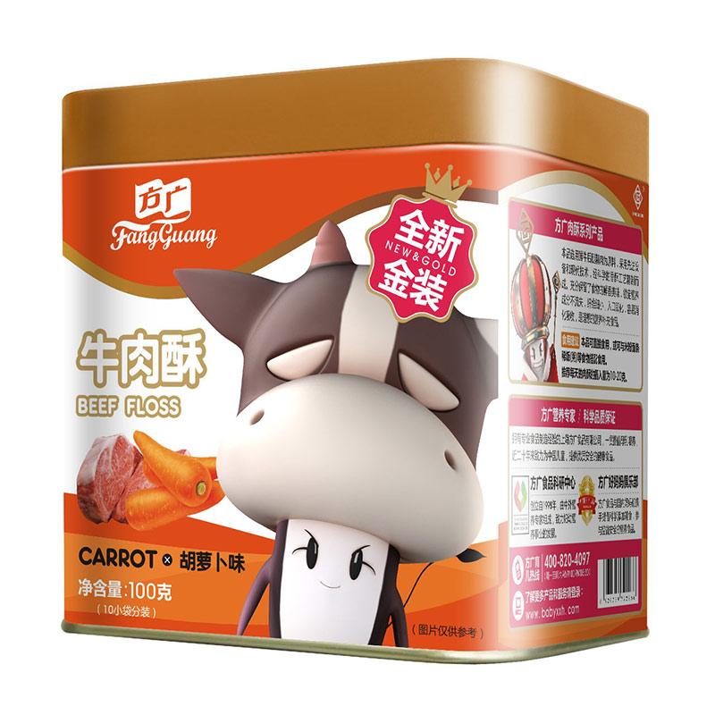 方广牛肉酥胡萝卜味5个月以上100g