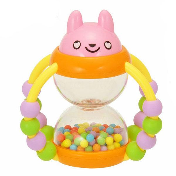 澳贝(Auby)花篮沙漏婴儿摇铃宝宝锻炼手指灵活性益智玩具