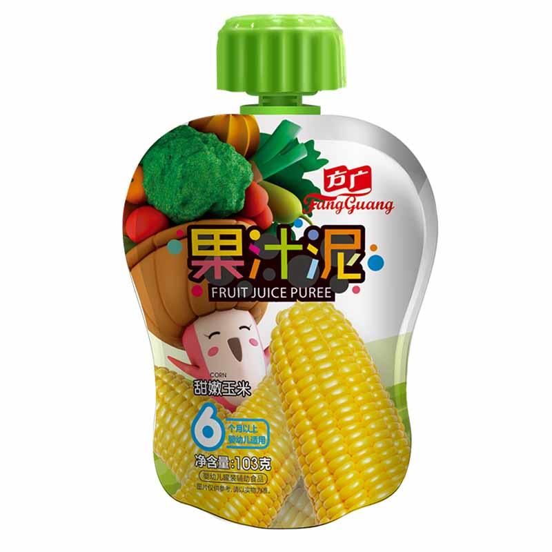 方广甜嫩玉米果汁泥袋装6月以上103g